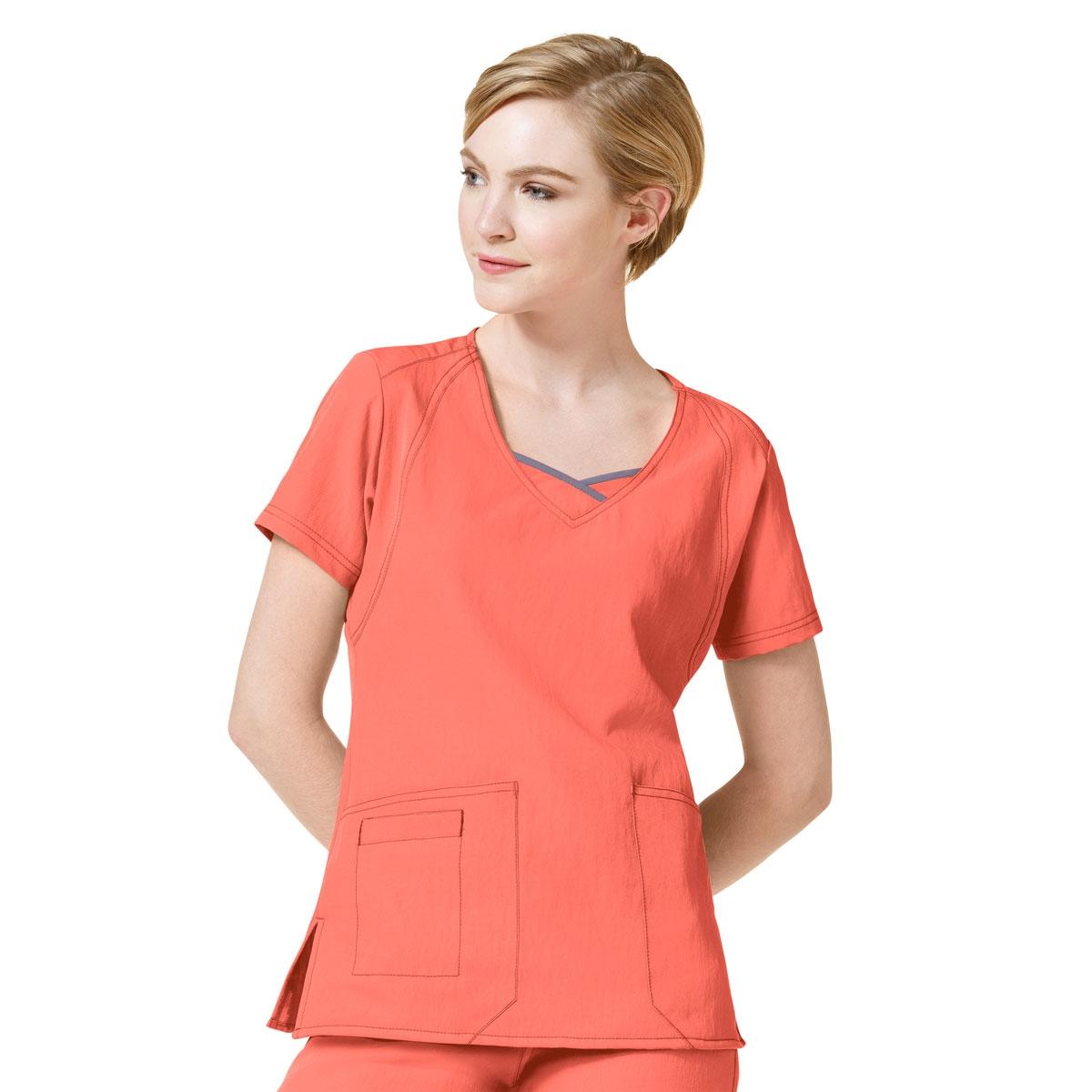 137d49423b6 Four-Stretch Curve-Centric Fashion Womens Scrub Tops - WonderWink Scrubs
