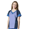 WonderWink 7 FLEX Women's V-Neck Tri Top