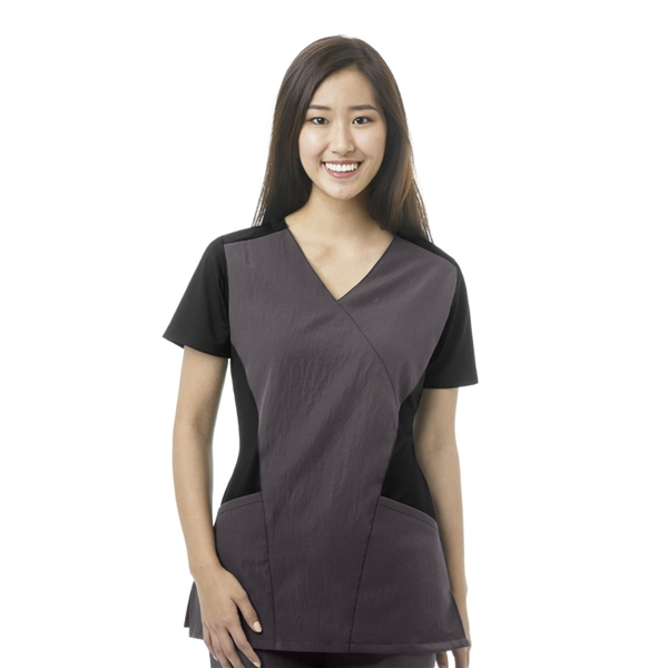 WonderWink FFX Sport Mock Wrap Top