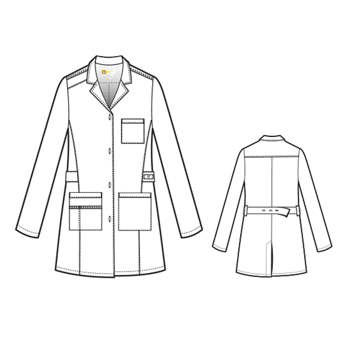 9a1fbe84921 The Utopia Fashion Lab Coat For Women - WonderWink Scrubs