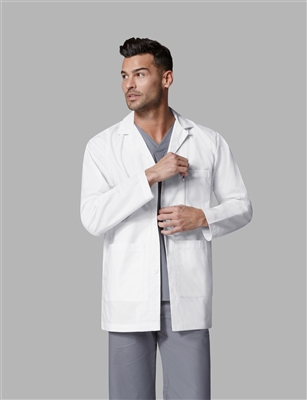 WonderWink Men's Consultation  Coat  in White by WonderWink