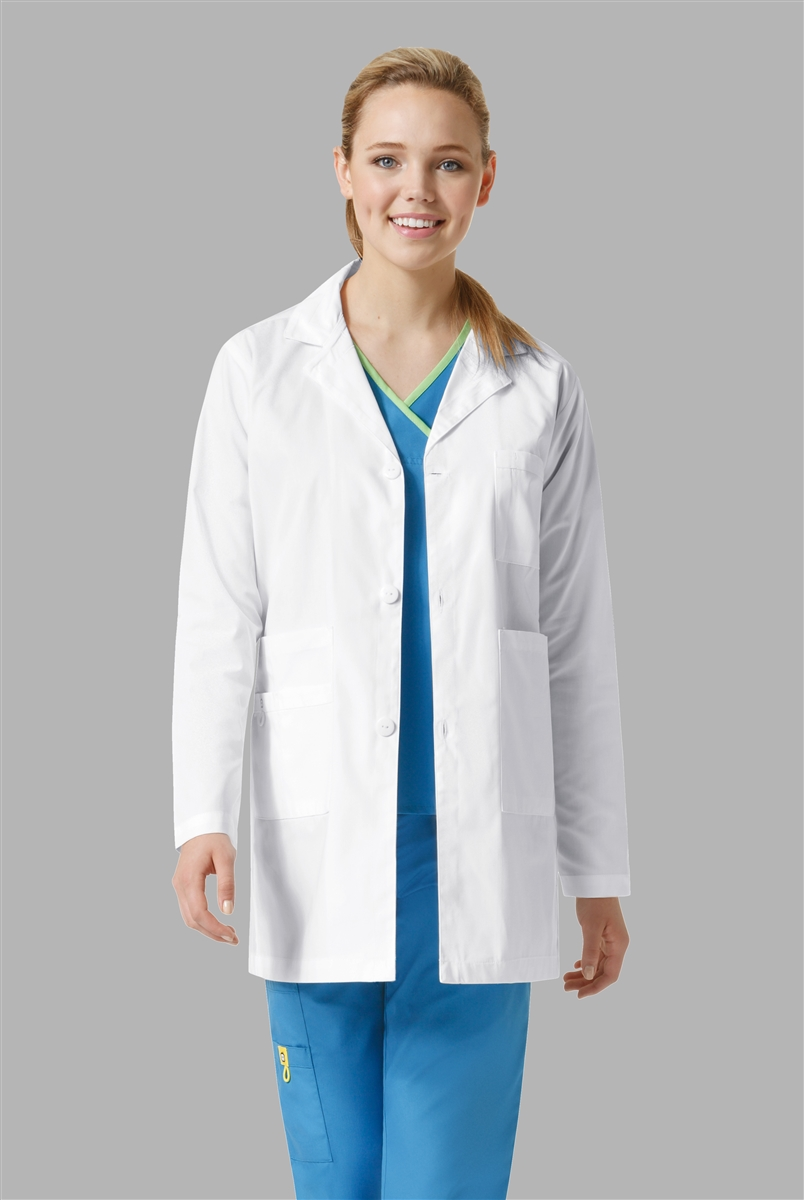 Unisex Style Student Lab Coat In White By WonderWink Scrub Shop