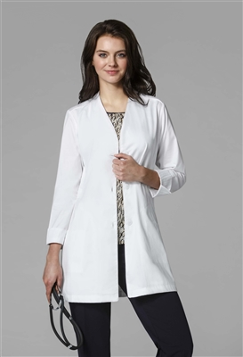 WonderWink Women's Stand Collar Fashion Coat  in White by WonderWink