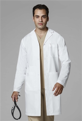 WonderWink Men's Long Lab Coat  in White by WonderWink