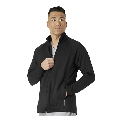 WonderWink Men's Fleece Full Zip Jacket