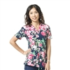 Carhartt Women's Cross-Flex V-Neck Print Top in Botanic Beauty