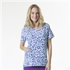 Carhartt Women's Cross-Flex V-Neck Print Top in Brush Up Violet