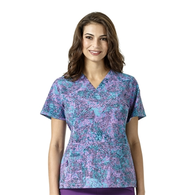 Carhartt Women's Cross-Flex V-Neck Print Top in Fly High