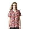 Carhartt Women's Cross-Flex V-Neck Print Top in Golden Hue