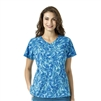 Carhartt Women's Y-Neck Fashion Print Top in Breeze By