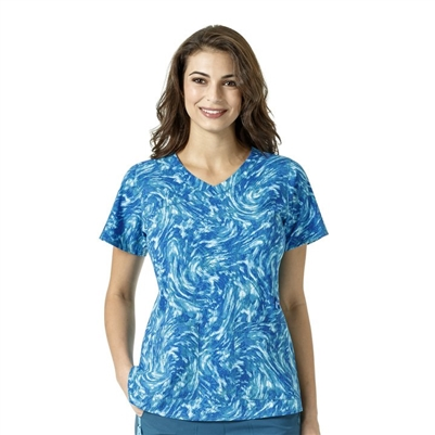 Carhartt® Women's Y-Neck Fashion Print Top in Breeze By