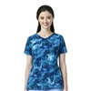 Carhartt Women's Y-Neck Fashion Print Top in Free Flow