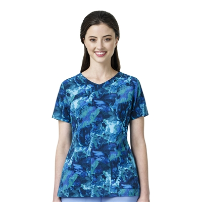 Carhartt® Women's Y-Neck Fashion Print Top in  Free Flow