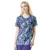 Carhartt Women's Y-Neck Fashion Print Top in Rainfall Grape