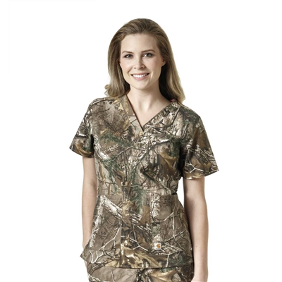 Carhartt Women's Realtree® Camo V-Neck Print Top