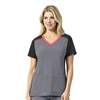 Carhartt Cross-Flex Women's Multi-Color Knit Mix V-Neck Top