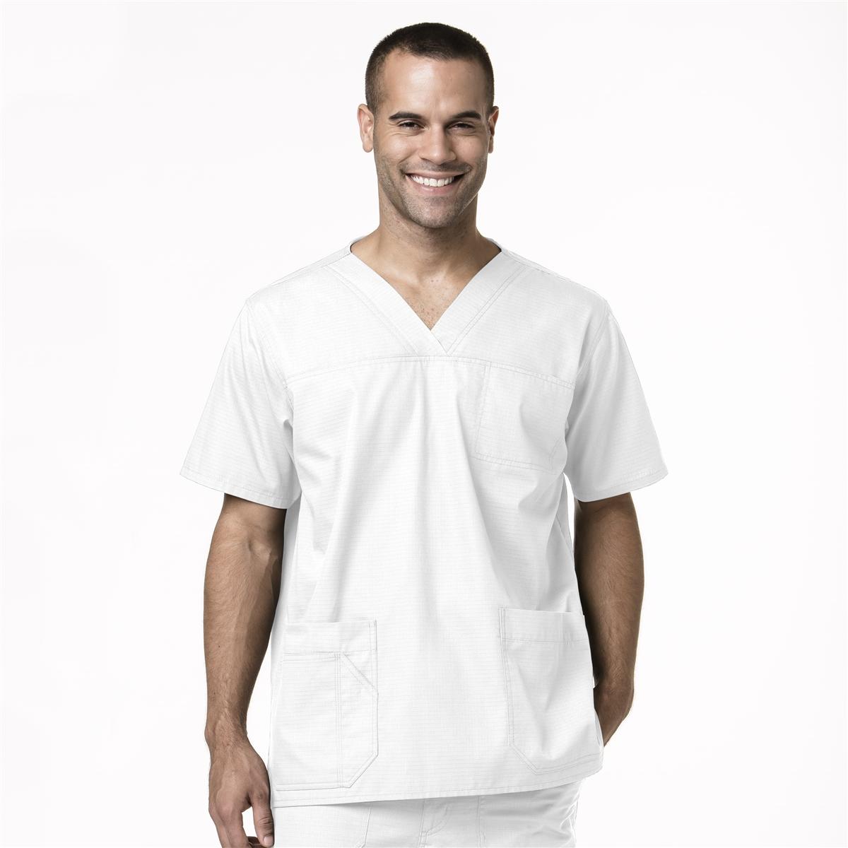 a11ea347928 Men's Multi-Pocket Ripstop Top in White - Carhartt Scrubs