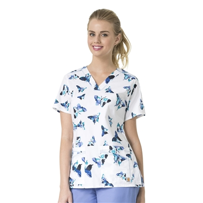 Carhartt Rockwall Women's Print V-Neck Top in Take Wing