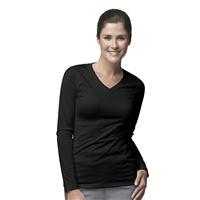Carhartt Women's Work-Dry Long Sleeve Tee in Black
