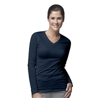 Carhartt Women's Work-Dry Long Sleeve Tee in Navy