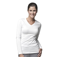Carhartt Women's Work-Dry Long Sleeve Tee in White