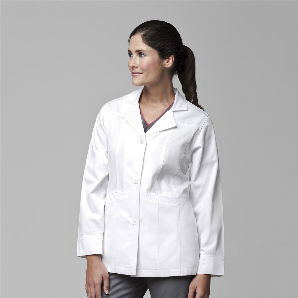 78bdddd92ec Short White Fashion Lab Coats For Women By Carhartt WonderWink