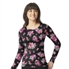 Tossed Posies Black Coco Print Knit Layer