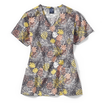 Zoe + Chloe Autumn Love Story V-Neck Print Top