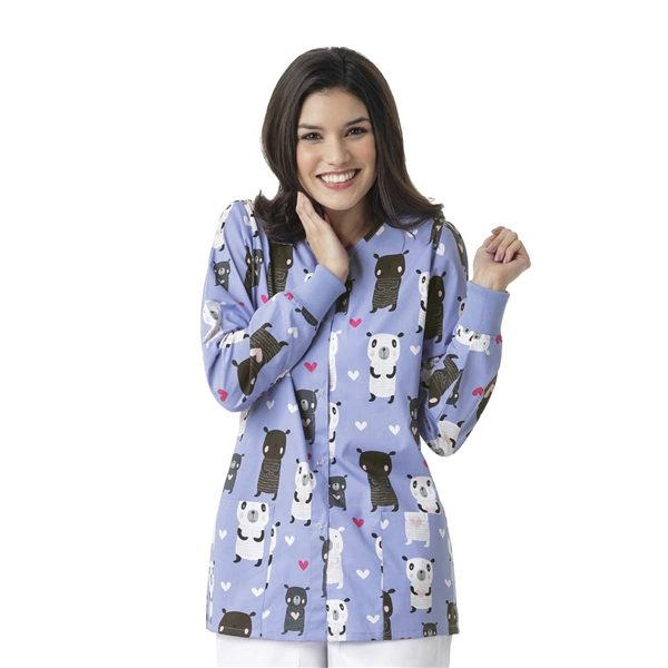 Zoe + Chloe Bear Hugs Printed Warm Up Jacket