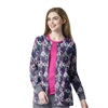 Zoe + Chloe Infinity Printed Warm Up Jacket