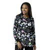 Zoe + Chloe Spring Field Black Printed Warm Up Jacket