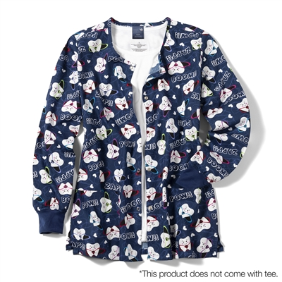 Zoe + Chloe Super Tooth Printed Warm Up Jacket