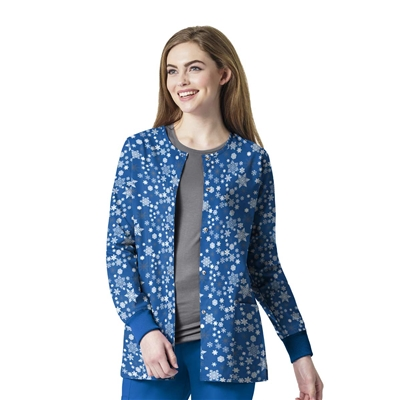 Zoe + Chloe Winter Bliss Printed Warm Up Jacket
