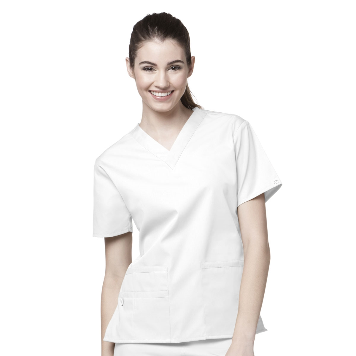 9fa4a624c89 Bravo Lady Fit V-Neck Scrub Top Origins Line - WonderWink Scrubs