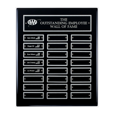 Black Finish Perpetual Plaque