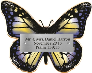 Blue Butterfly Donor Plaque