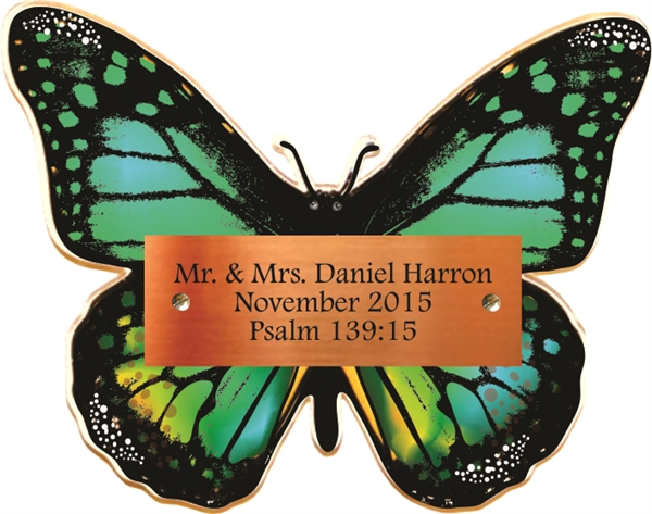 Green Butterfly Donor Plaque