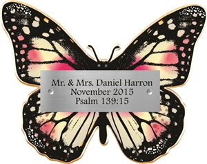 Pink Butterfly Donor Plaque