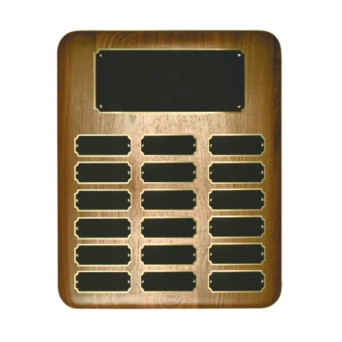 Elliptical Walnut Perpetual Plaque