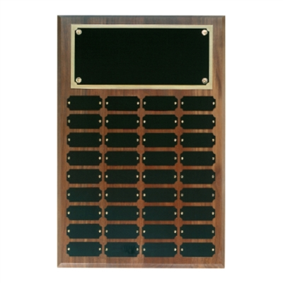 Step Edge Walnut Perpetual Plaque