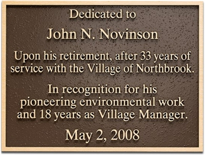 Precision Tooled Bronze Plaques