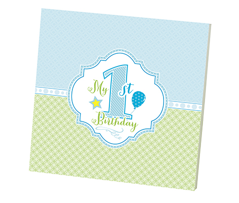 Baby's First Birthday Memory Book Blue