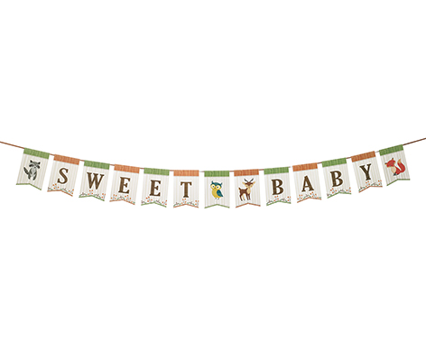 Woodland Theme Baby Shower Bunting Decor