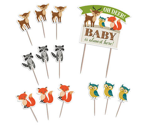 Woodland Baby Shower Cake Toppers
