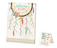 Boho Baby Shower Guest Signing Canvas