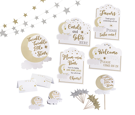 Twinkle Twinkle Little Star Baby Shower Decor Set