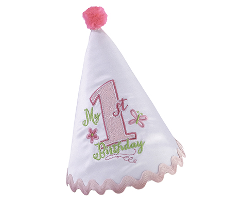 Pink Baby's First Birthday Hat
