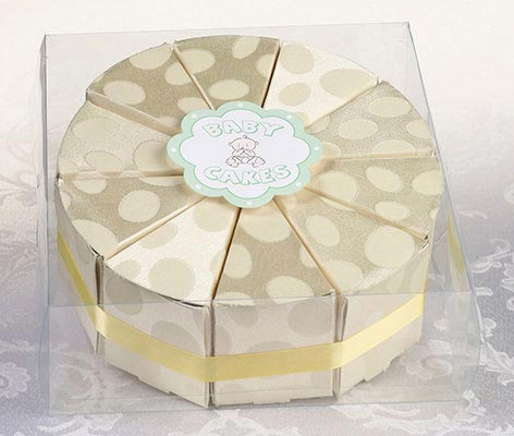10 Yellow Cake Slice Boxes Favors