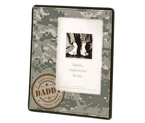 Camouflage Baby Picture Frame for Dad