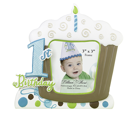Baby's First Birthday Picture Frame Blue
